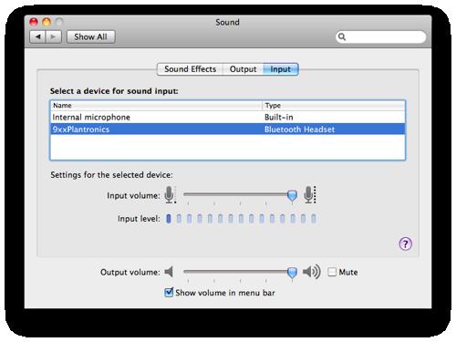 Audio input osx