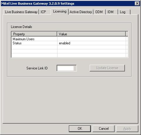 Mitel Live Business Gateway - Licensing