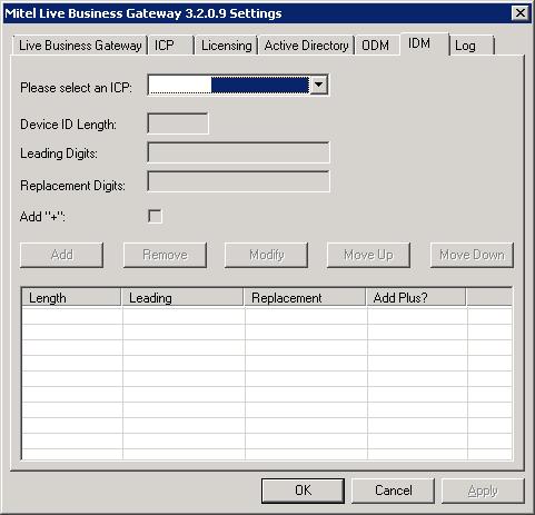 Mitel Live Business Gateway - IDM