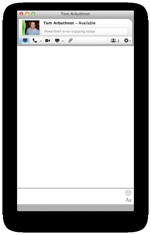Lync for Mac 2011 - IM conversation