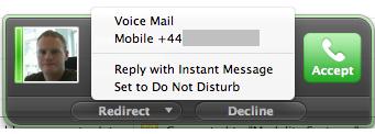 Lync for Mac 2011 - Redirect call to mobile