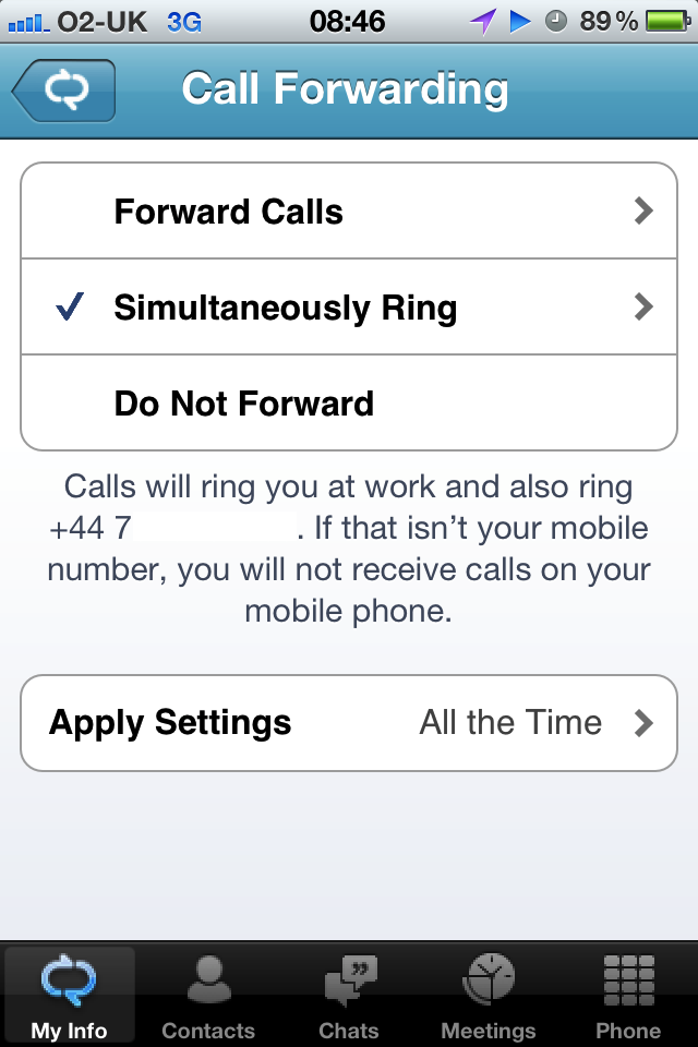 call forwarding iphone lync 2010 for iphone a look justin morris 10332