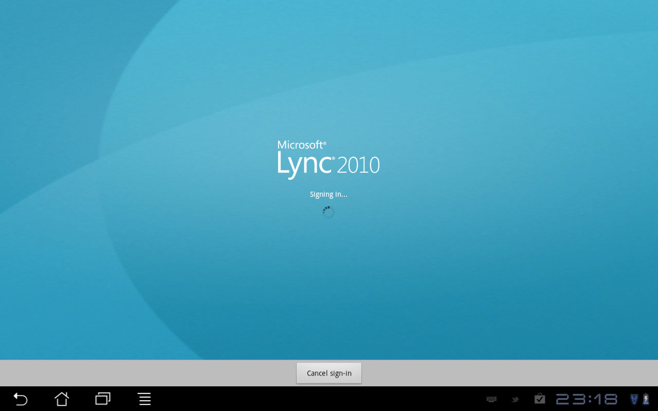 A look at Lync Mobile on Android Tablet   Justin Morris
