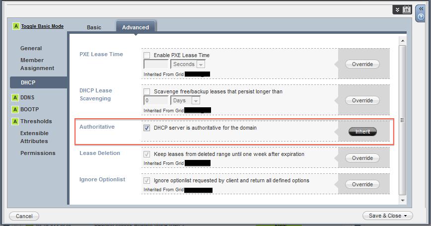 Infoblox Advanced Config for Lync